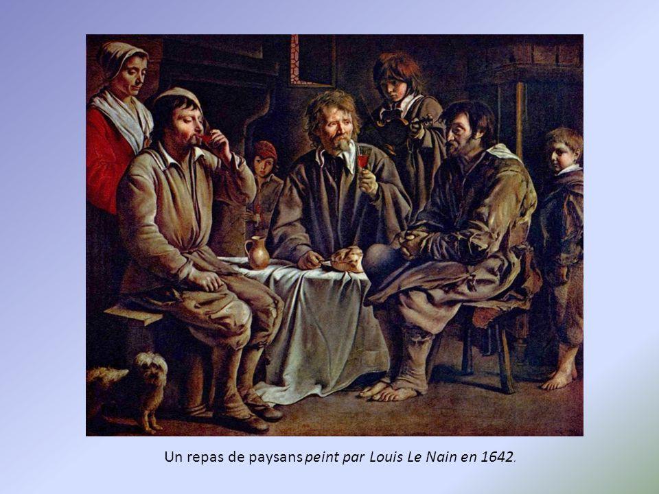 Un repas de paysans peint par Louis Le Nain en 1642.