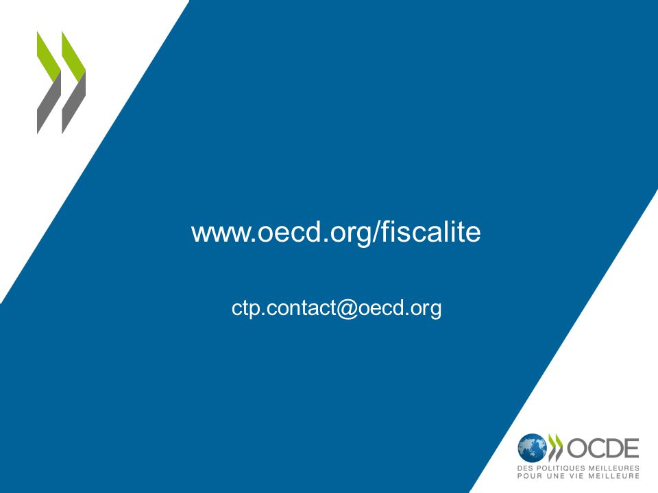 www.oecd.org/fiscalite ctp.contact@oecd.org 27