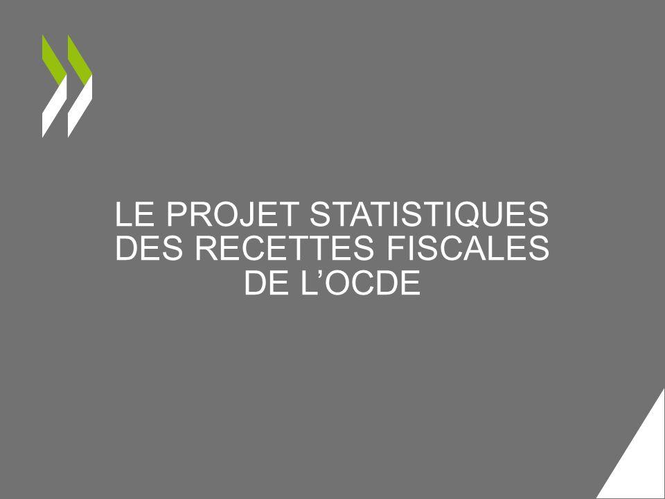 LE PROJET STATISTIQUES DES RECETTES FISCALES DE L'OCDE