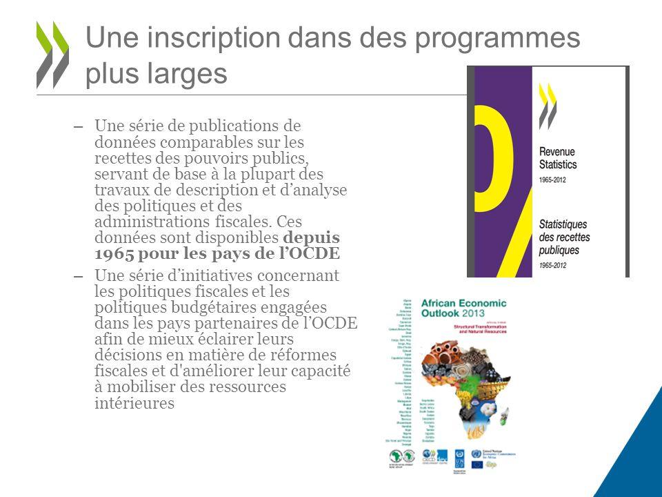 – Une série de publications de données comparables sur les recettes des pouvoirs publics, servant de base à la plupart des travaux de description et d