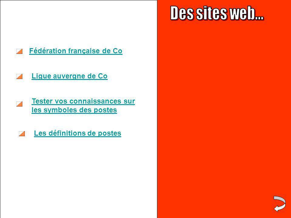 Tester vos connaissances sur les symboles des postes Ligue auvergne de Co Fédération française de Co