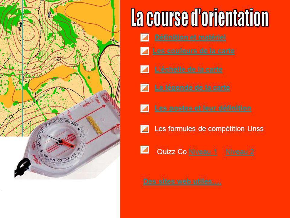 Les couleurs de la carte L'échelle de la carte La légende de la carte Quizz Co Niveau 1Niveau 1 Les postes et leur définition Des sites web utiles….