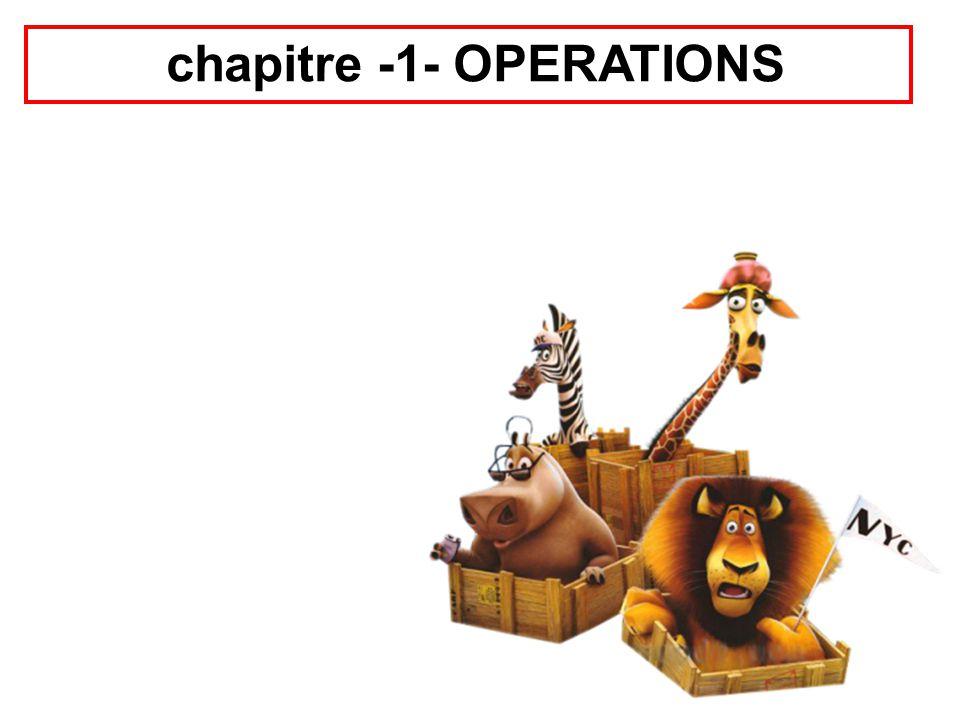 chapitre -1- OPERATIONS