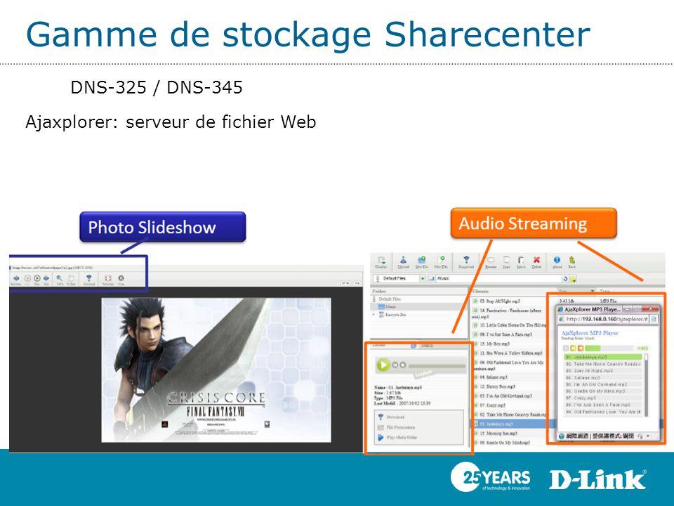 Gamme de stockage Sharecenter DNS-325 / DNS-345 Ajaxplorer: serveur de fichier Web