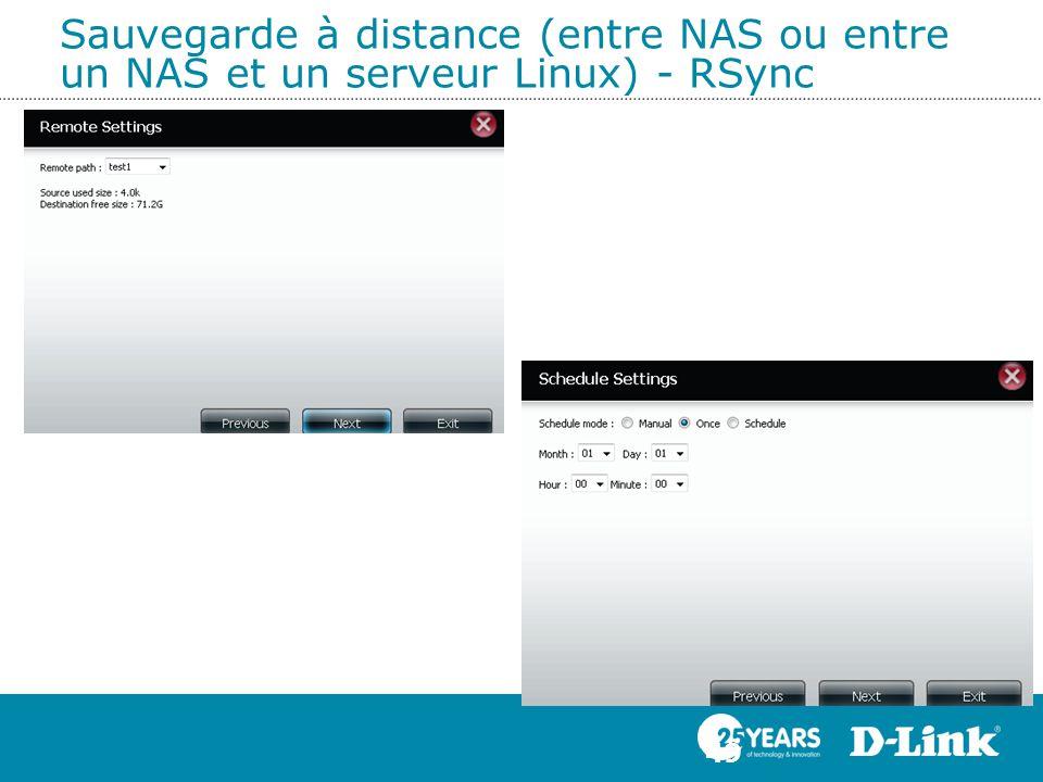 Sauvegarde à distance (entre NAS ou entre un NAS et un serveur Linux) - RSync 49