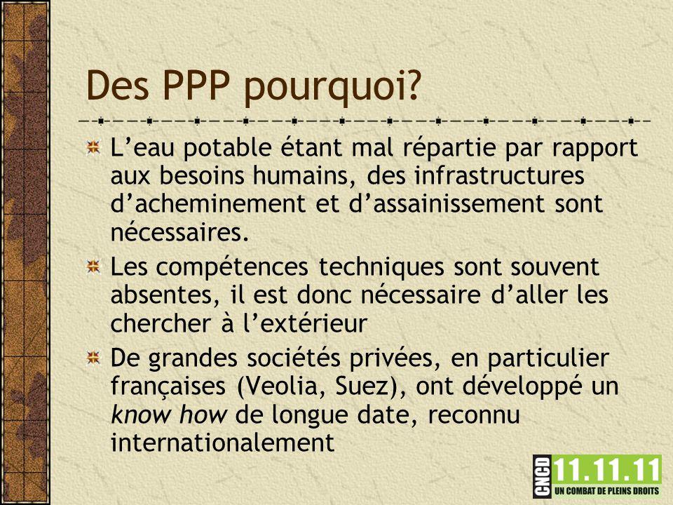 Des PPP pourquoi.