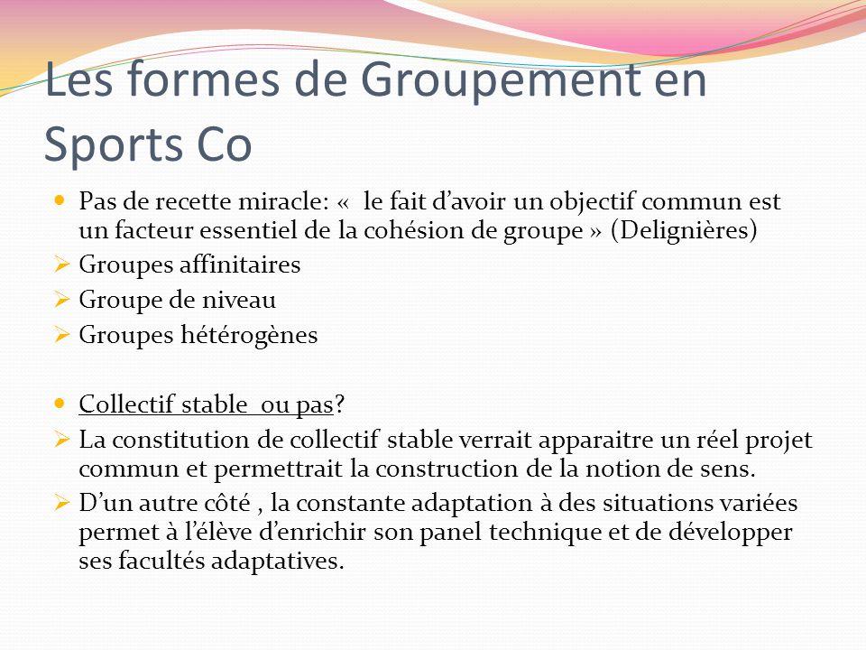 Créer des Situations d'Apprentissage en Sports Co Un cadre de séance basé sur 3 moments clés (Deleplace) 1.