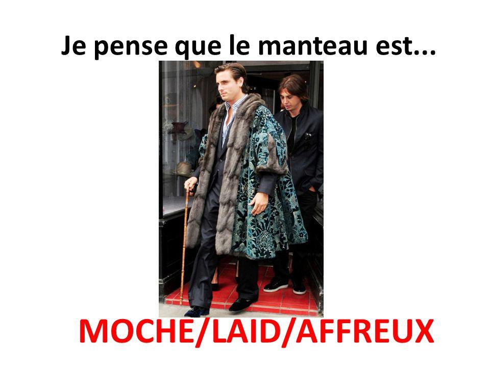 Je pense que le manteau est... MOCHE/LAID/AFFREUX