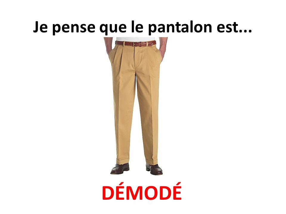 Je pense que le pantalon est... DÉMODÉ