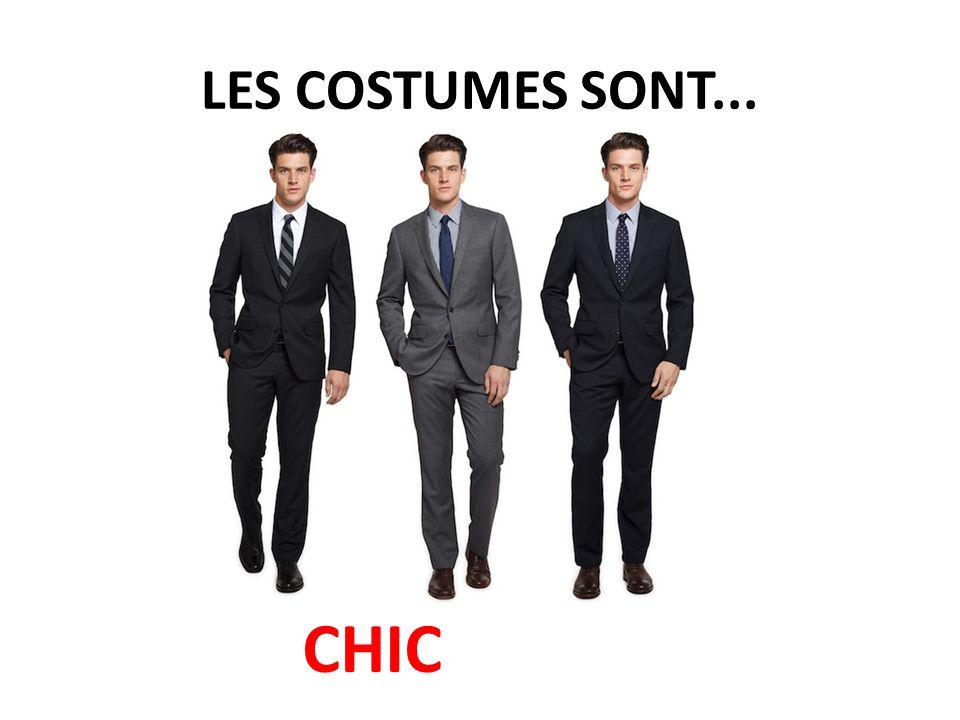 LES COSTUMES SONT... CHIC