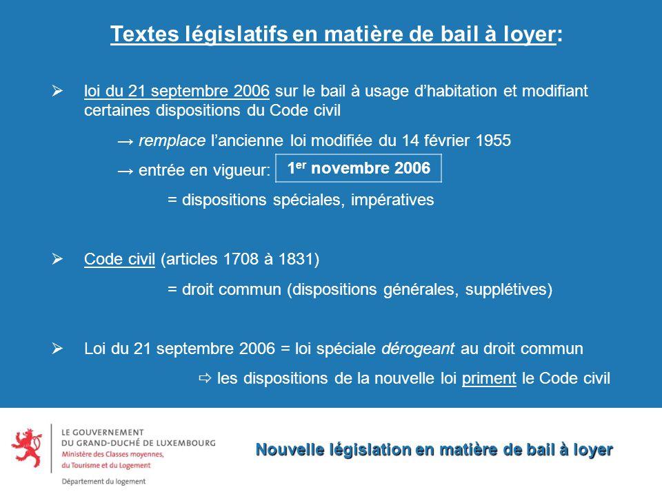 Nouvelle législation en matière de bail à loyer Nouvelle législation en matière de bail à loyer Mesdames et Messieurs, je vous remercie pour votre attention.