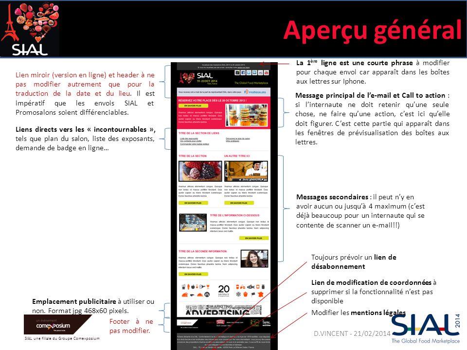 SIAL une filiale du Groupe Comexposium Aperçu général Lien miroir (version en ligne) et header à ne pas modifier autrement que pour la traduction de la date et du lieu.