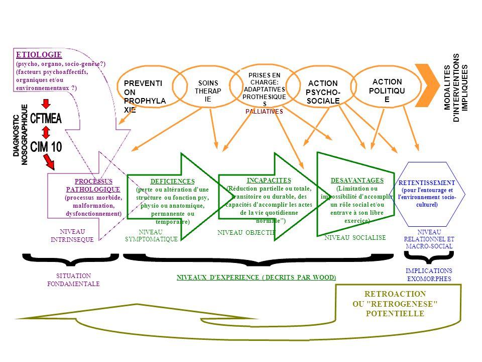 WOOD : CLASSIFICATION INTERNATIONALE DES HANDICAPS: DEFICIENCE ET DEPENDANCE : ENTRE DIAGNOSTIC ET PRONOSTIC WOOD : CLASSIFICATION INTERNATIONALE DES