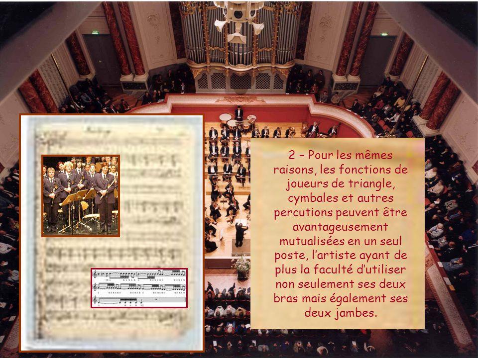 1 – Les joueurs de hautbois demeurent inactifs pendant des périodes considérables.