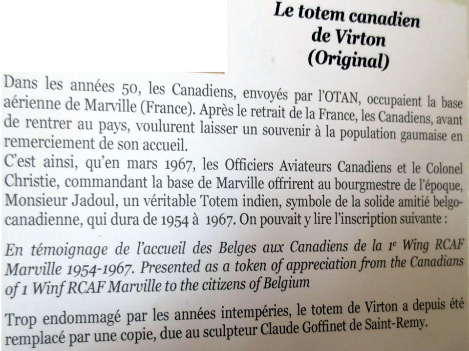 … le Totem canadien de Virton …