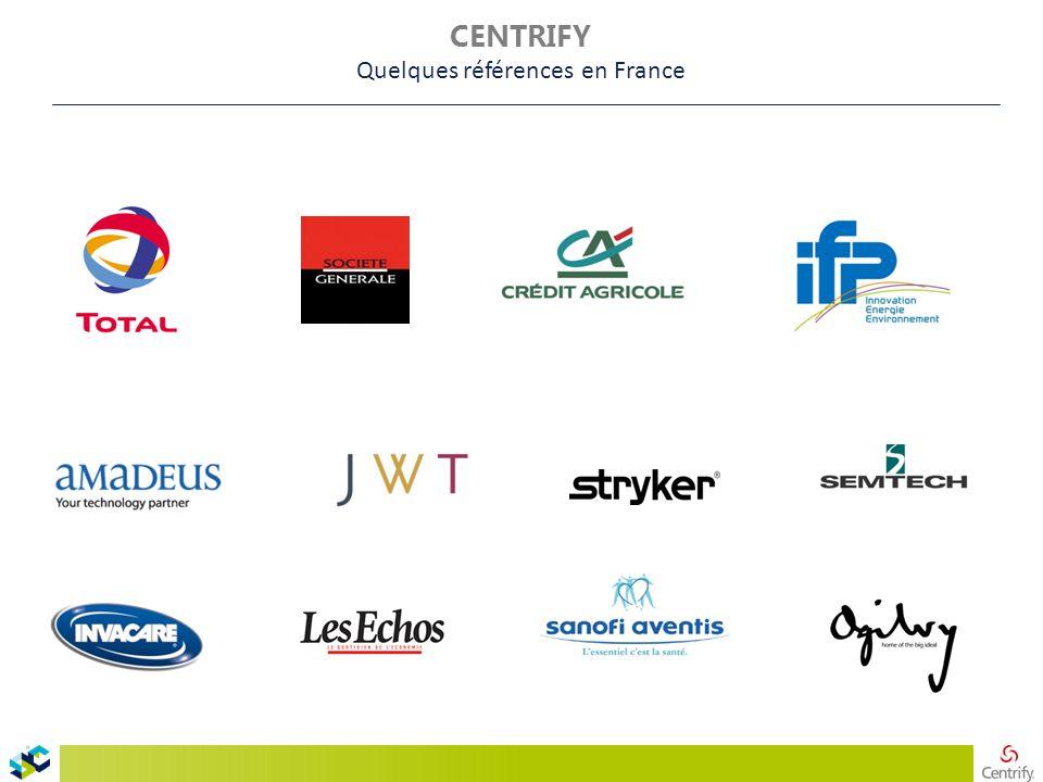 CENTRIFY Quelques références en France