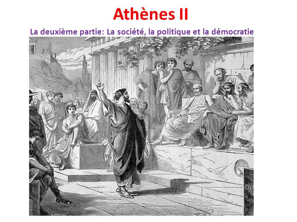 Les citoyens d'Athènes Seulement un citoyen athénien peut participer aux assemblées et exercer un pouvoir démocratique.