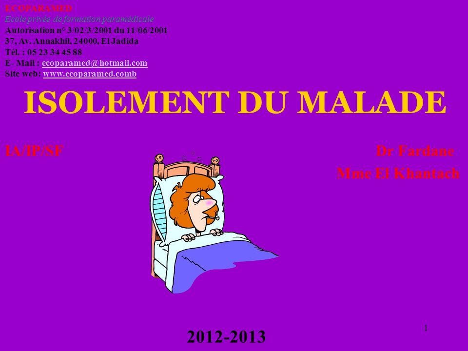 1 ECOPARAMED Ecole privée de formation paramédicale Autorisation n° 3/02/3/2001 du 11/06/2001 37, Av. Annakhil, 24000, El Jadida Tél. : 05 23 34 45 88