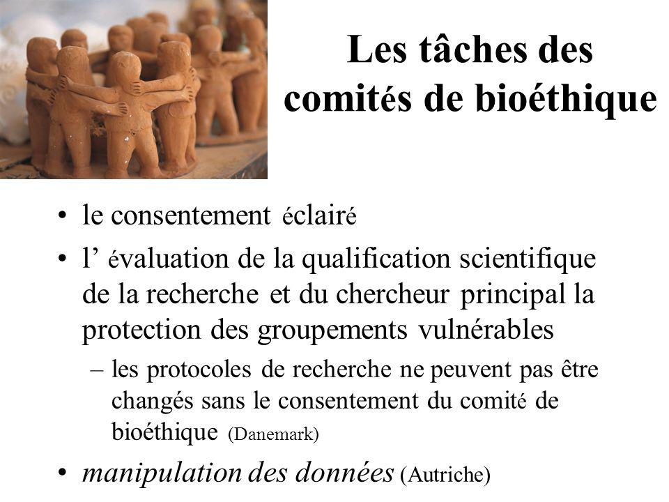 Harmonisation d'éthiques de la recherche au niveau de l'Union Européenne Quels ont été les effets de l'introduction de la législation.
