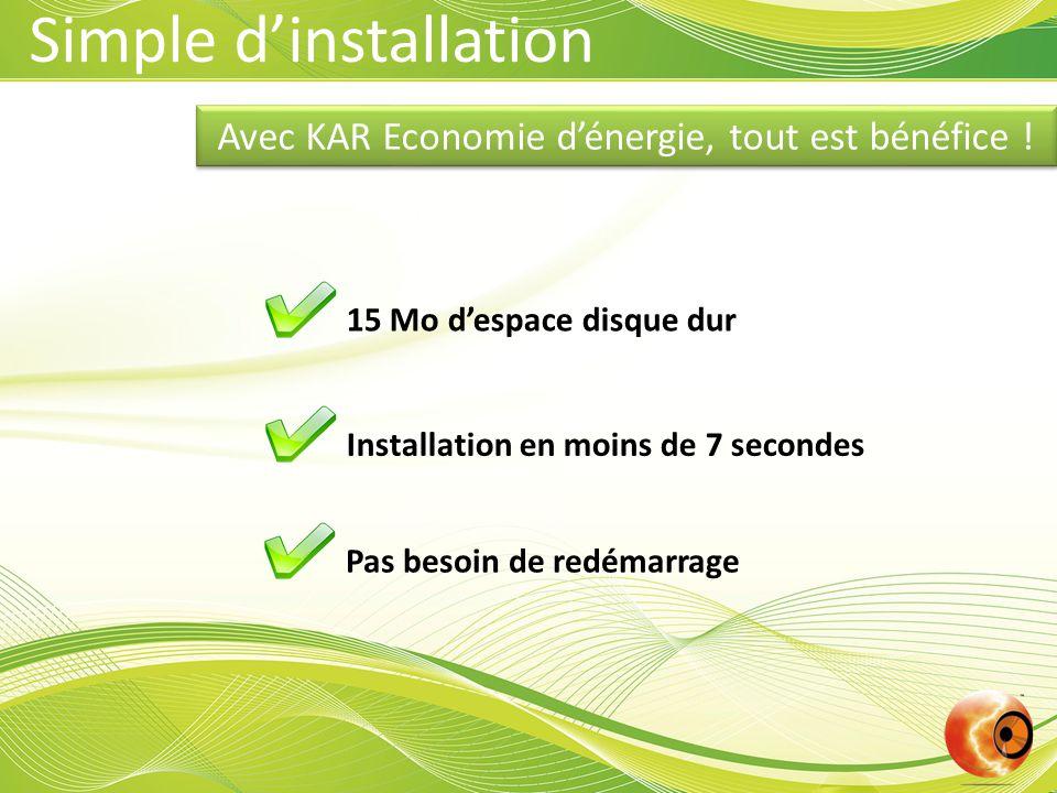 Avec KAR Economie d'énergie, tout est bénéfice .