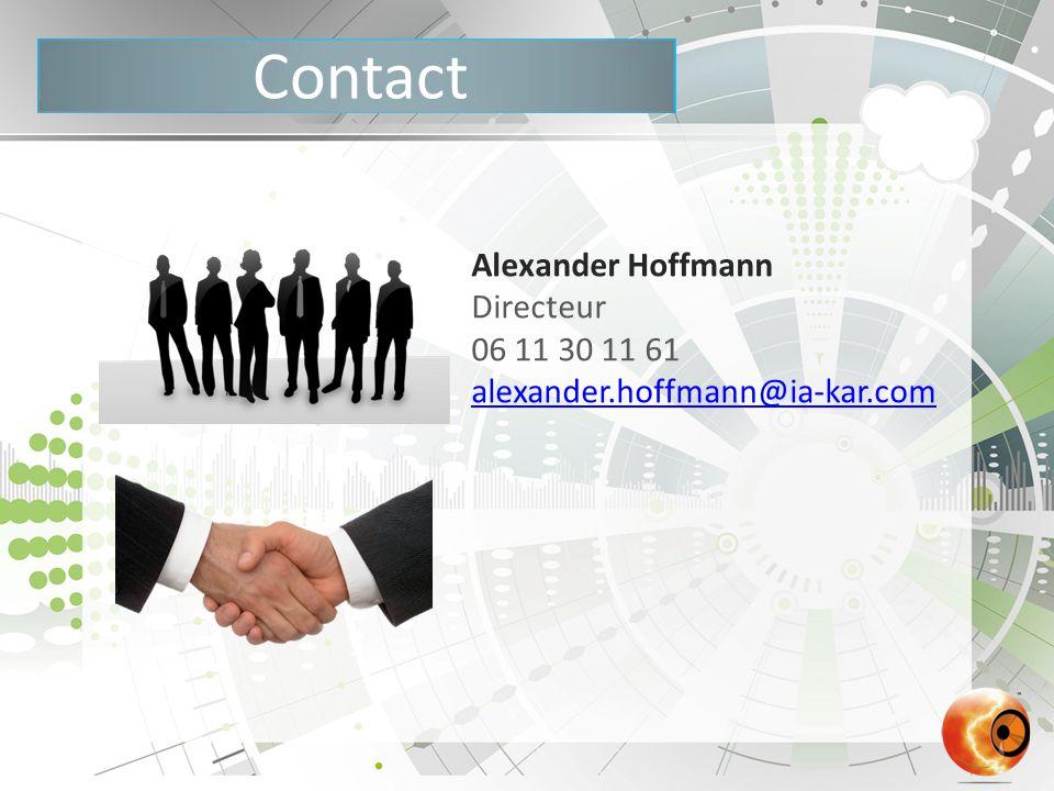 Contact Alexander Hoffmann Directeur 06 11 30 11 61 alexander.hoffmann@ia-kar.com