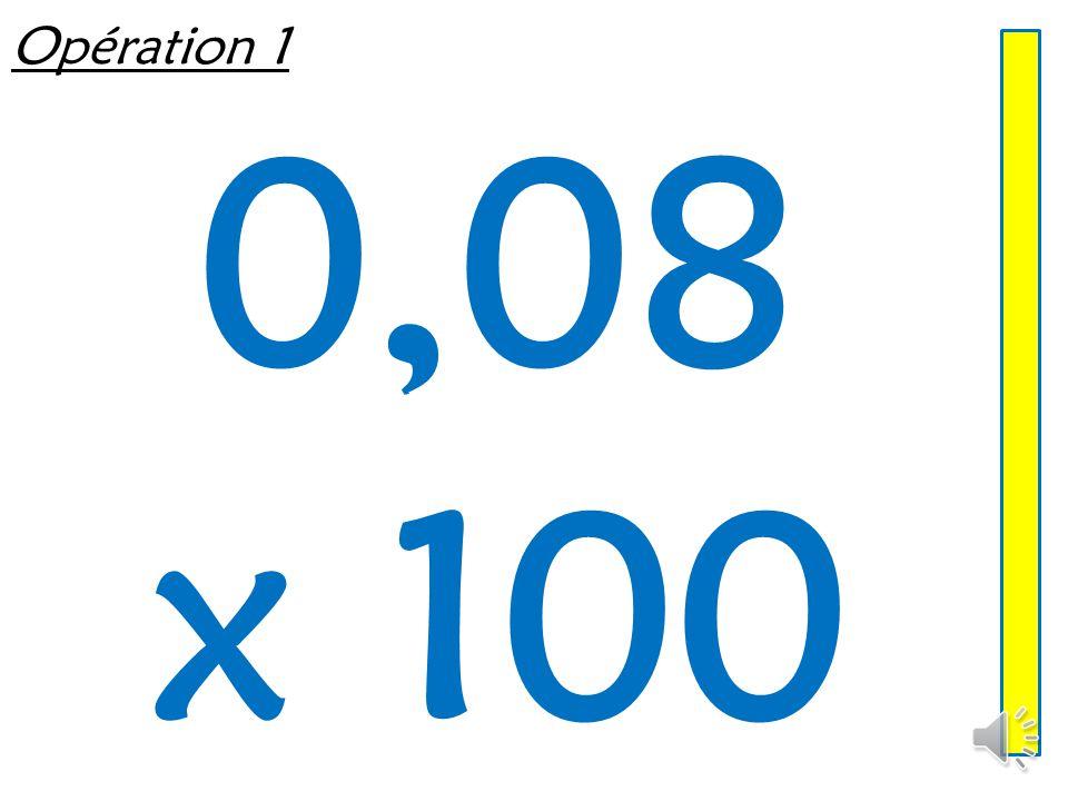 Multiplier un décimal par 10, 100, 1 000 Mathématiques – Calcul mental  Entraînement n° 2