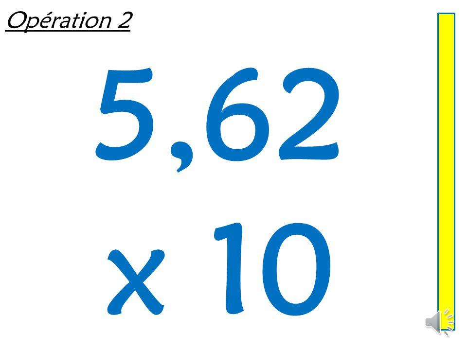 Opération 1 0,08 x 100