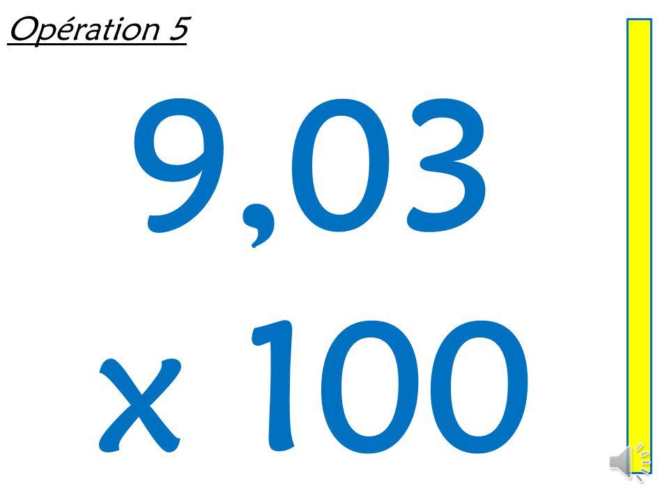 Opération 4 0,7 x 100