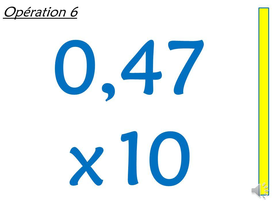 Opération 5 9,03 x 100