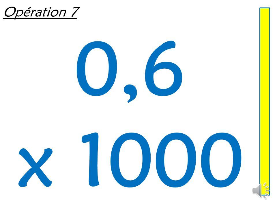 Opération 6 0,47 x 10