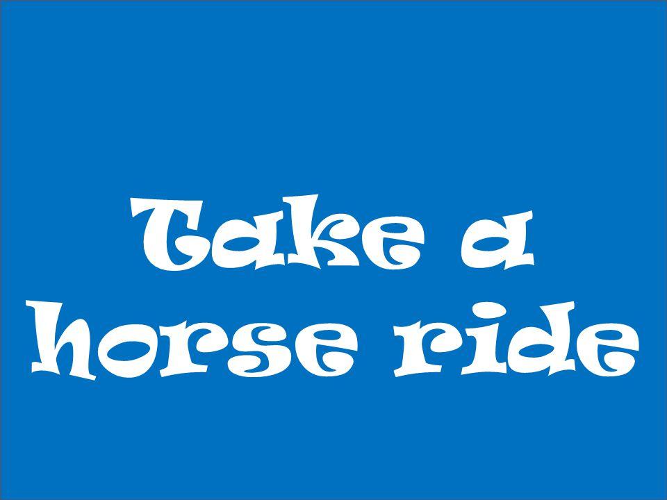 Take a horse ride