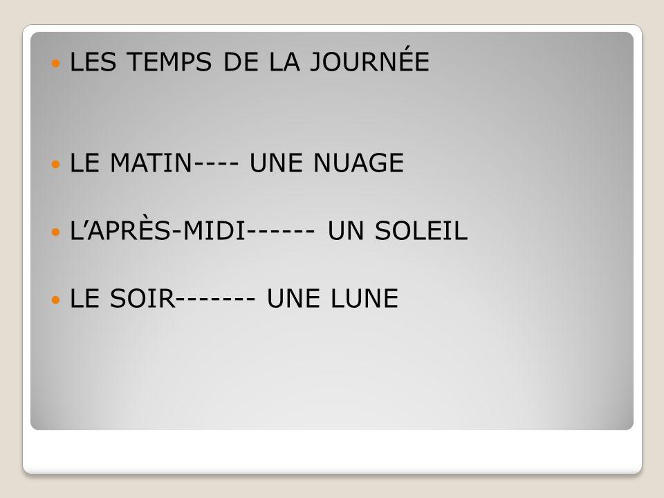 IL EST TROIS HEURES DE L'APRÈS-MIDI