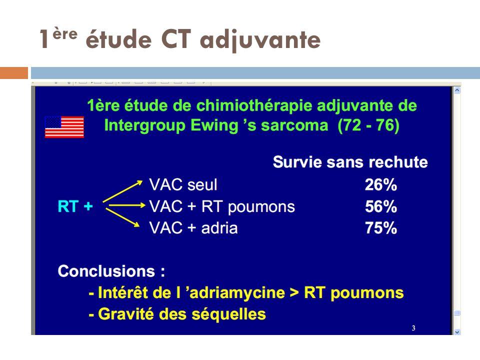 1 ère étude CT adjuvante