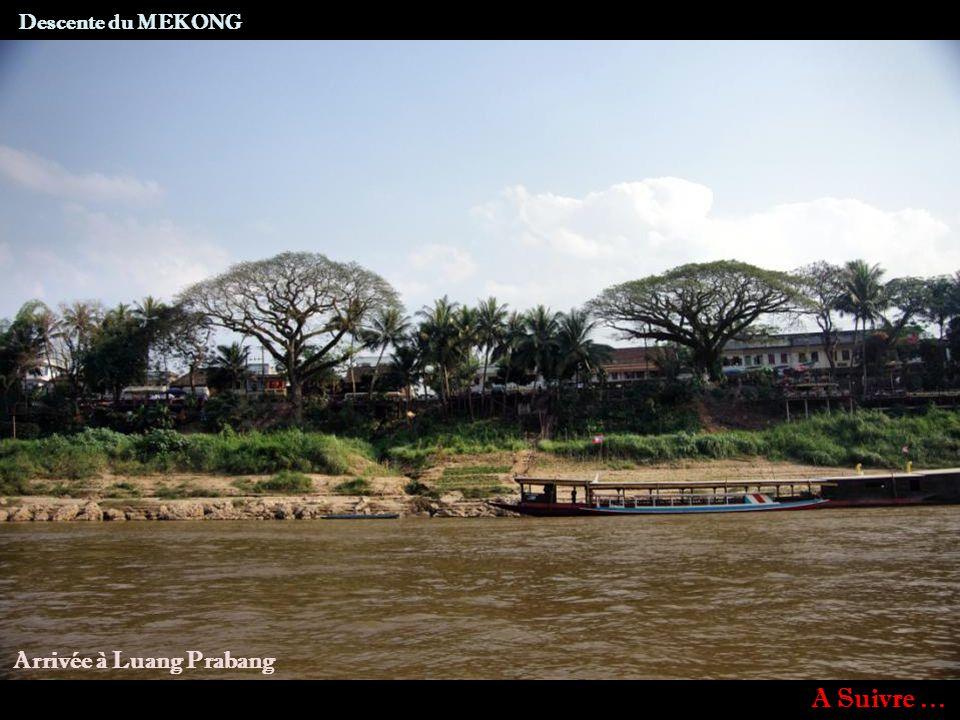 PAK OU La Nam Ou vue des grottes de Pak Ou