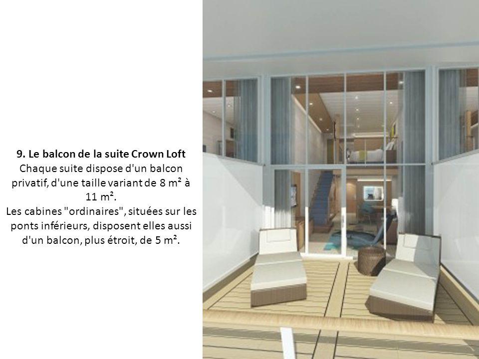 8. La chambre de la suite Crown Loft Pour occuper l'une des cabines du bateau pendant 4 nuits, les passagers devront débourser entre 425 et 1 203 euro