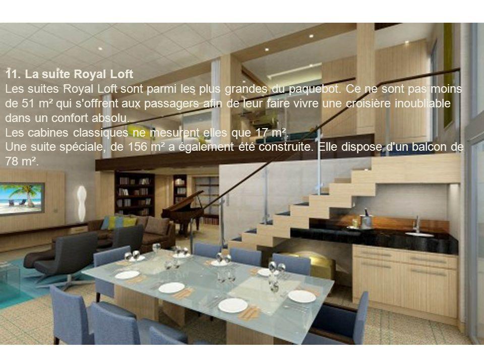 10. La salle de bains de la suite Crown Loft Les suites junior (plus petites) présentes à bord de l'''Allure of the Seas'' proposent un bel espace de