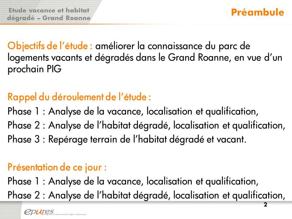Définition du PPPI de catégorie 6 : RPP de classement cadastral 6, dont les occupants ont un revenu fiscal de référence inférieur à 70% du seuil de pauvreté Un risque d'insalubrité à moyen terme pèse sur le cœur de l'agglomération (Roanne et Le Coteau).