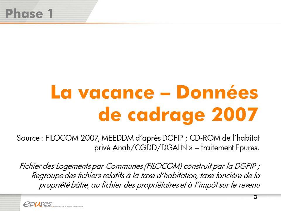 La vacance à la section cadastrale - 2012 Phase 1 Source : Fichiers des locaux vacants1767bis EPCI, DGI 2012– traitement Epures.