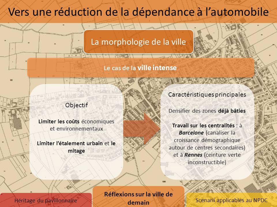 Scenarii applicables au NPDC Le cas de la ville intense La morphologie de la ville Héritage du pavillonnaire Réflexions sur la ville de demain 1.Vers