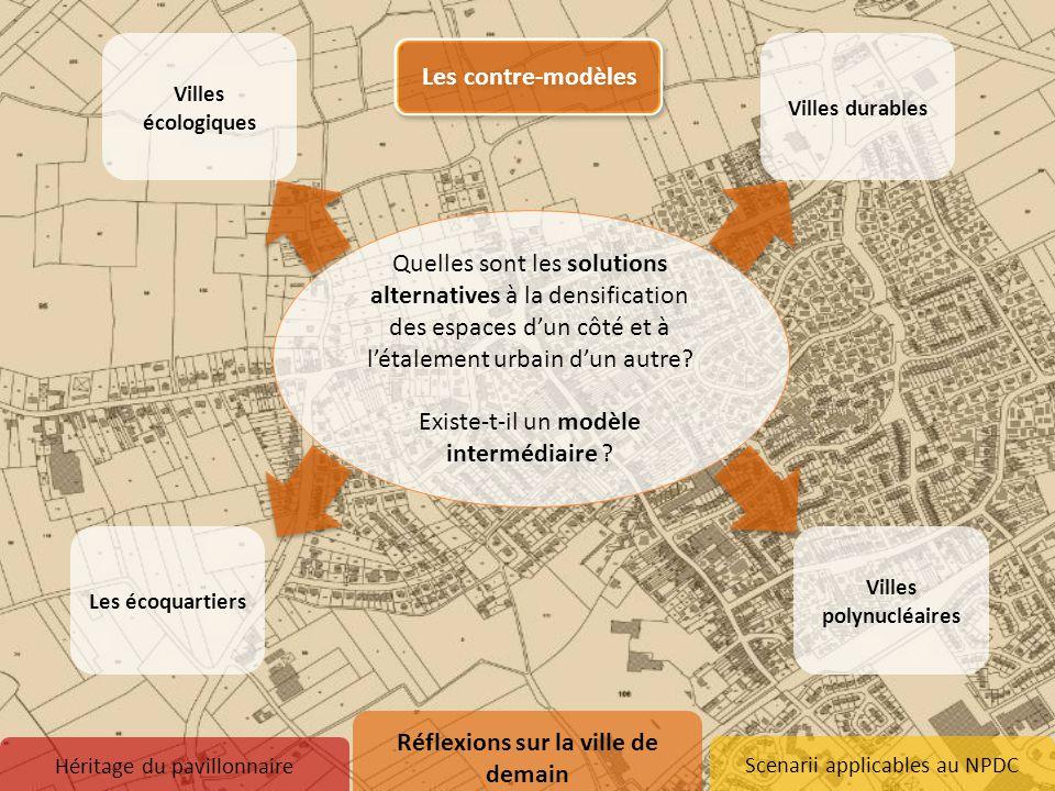 Scenarii applicables au NPDC Villes polynucléaires Les écoquartiers Quelles sont les solutions alternatives à la densification des espaces d'un côté e