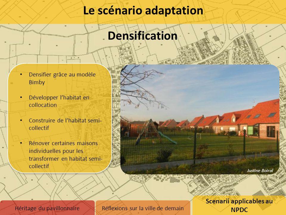 Densifier grâce au modèle Bimby Développer l'habitat en collocation Construire de l'habitat semi- collectif Rénover certaines maisons individuelles po