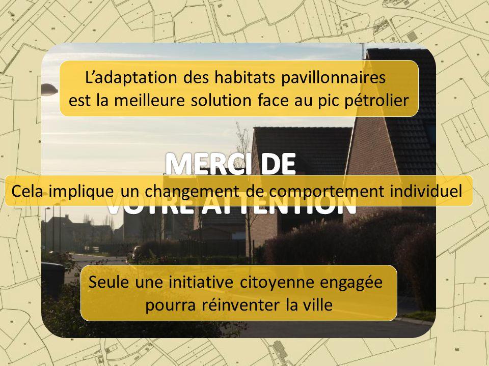 L'adaptation des habitats pavillonnaires est la meilleure solution face au pic pétrolier Cela implique un changement de comportement individuel Seule