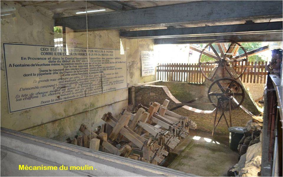 Mécanisme du moulin.