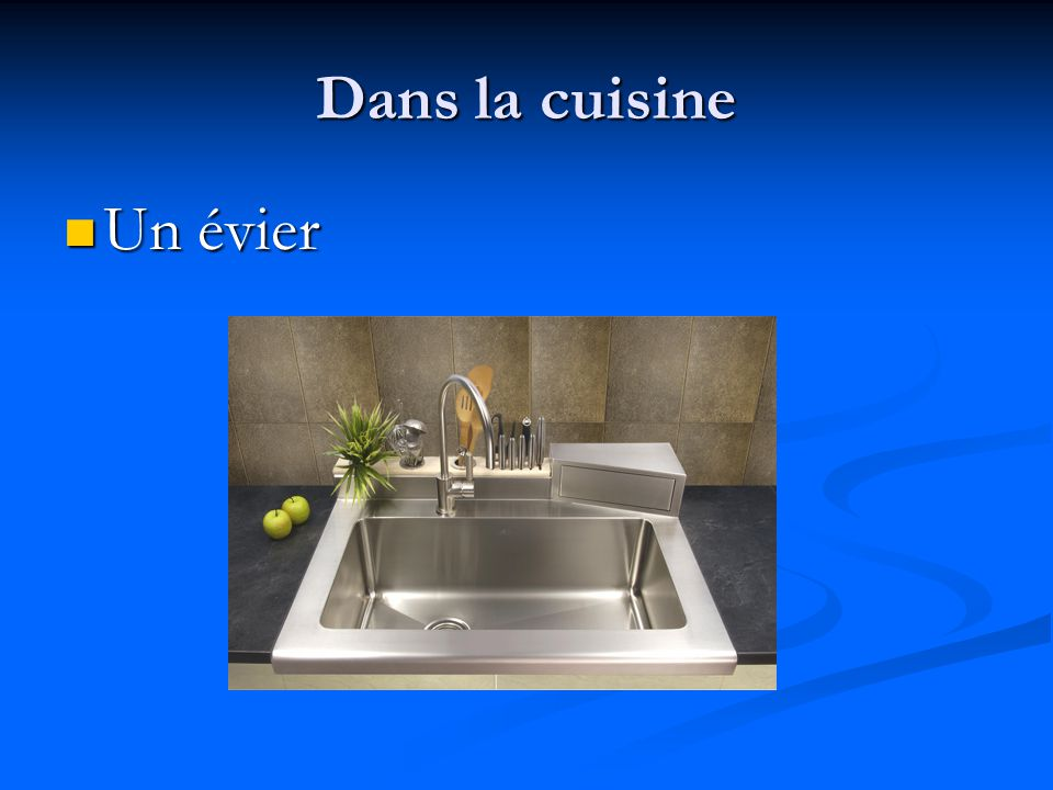 Dans la cuisine Une cuisinière Une cuisinière
