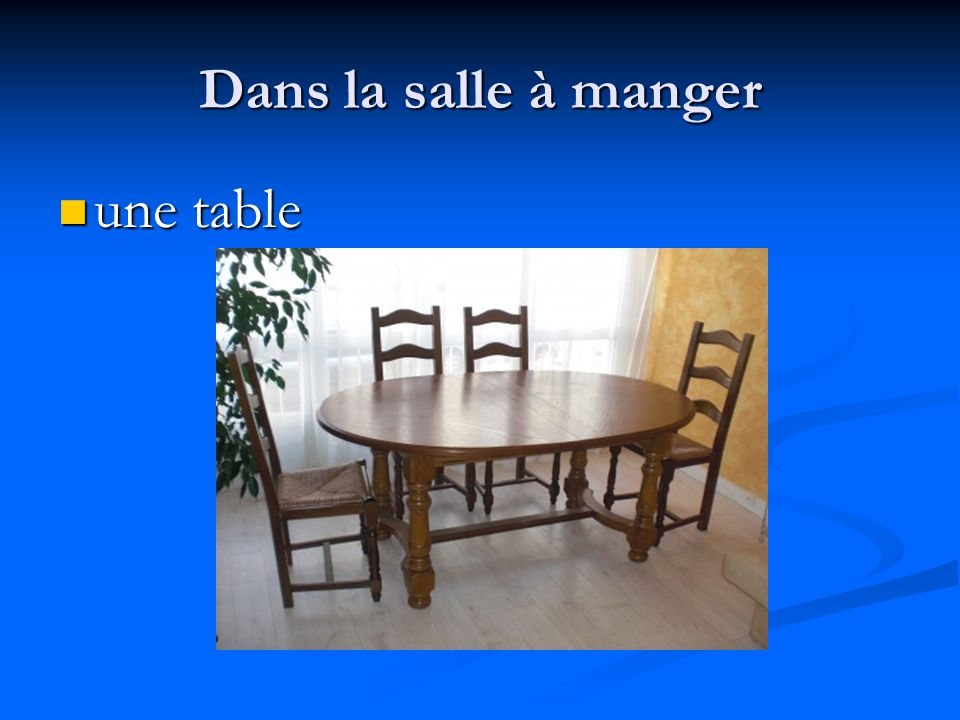 une table une table