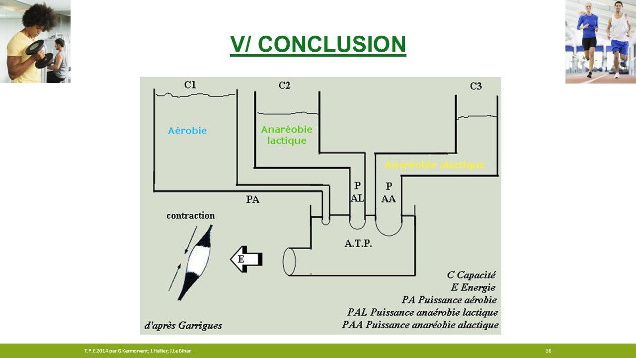 V/ CONCLUSION 16T.P.E 2014 par G.Kermorvant; J.Hallier; J.Le Bihan