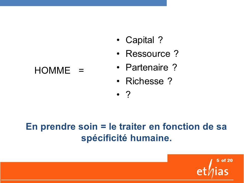 5 HOMME = Capital . Ressource . Partenaire . Richesse .