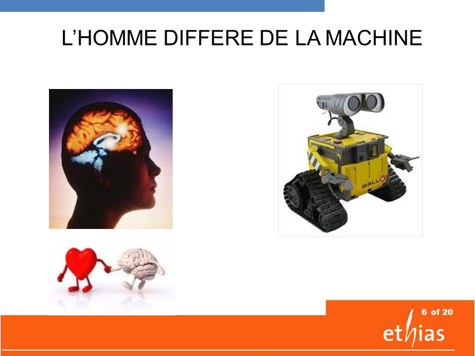 6of 20 L'HOMME DIFFERE DE LA MACHINE
