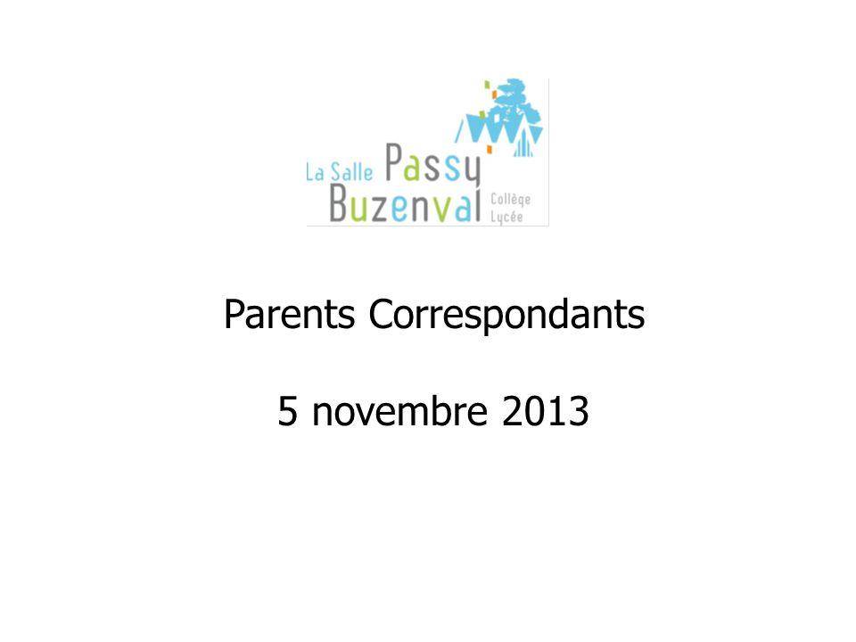 Parents Correspondants 5 novembre 2013