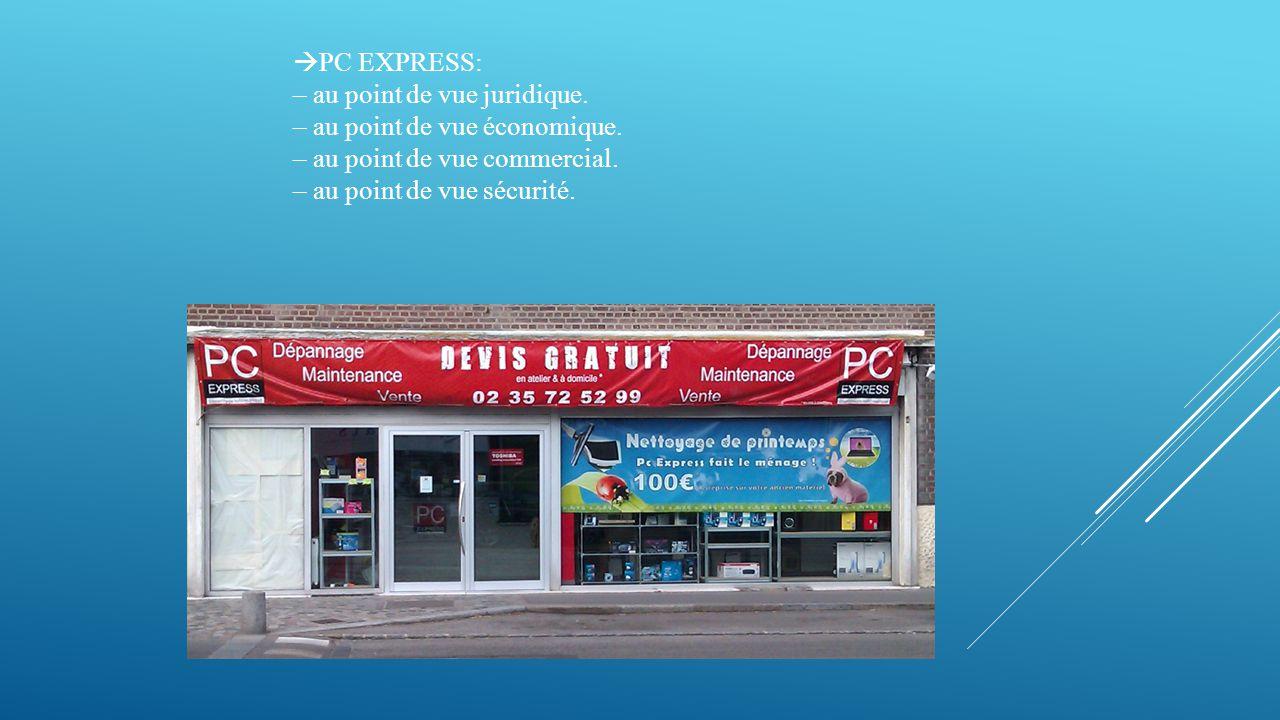  PC EXPRESS: – au point de vue juridique. – au point de vue économique.